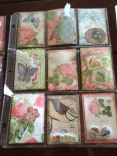"""A pocket letter I created for a """"Spring"""" themed swap using Graphic 45 Botanical Tea"""