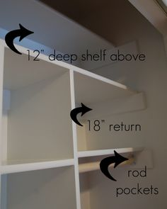Custom closet DIY (about 100 bucks, same hanging space, lots more shelving!)