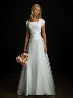 Vintage Strapless Beaded Princess Modest Wedding Dress With Sleeves, $123 maybe purple top or purple beads...