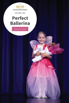 Sergers were made for garments and costumes! Create this beautiful fairy ballerina dress for your little one and she'll be the belle of the ball. // Project tutorial available at through the link.