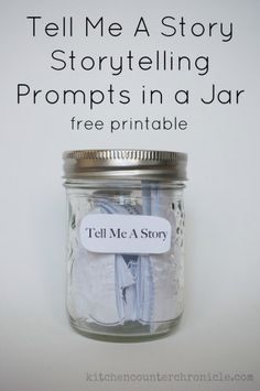 "Inspired by the Chapter book Clemency Pogue, Fairy Killer"" by JT Petty printable storytelling prompts in a jar by Kitchen Counter Chronicles"