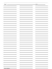 C E Be Cc E D D F on Lined Paper Layout