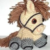 crochet animals-Pony.