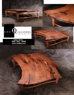 Arched Coffee Table Mesquite With Turquoise Inlay W28x L62xh18