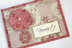 Handmade Card Namaste Card Floral Card Vintage by Summertimedesign, $3.50