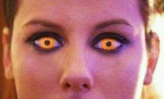 16cd5685ad295 Lente laranja UV que brilha na luz negra Lentes de contato com duração de até  3