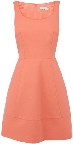 karen-millen-coral-fun-tailored-bubble-dress