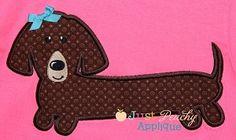 Wennie Dog Applique Design