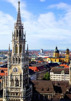 Panorama view of Munchen city centre, Germany