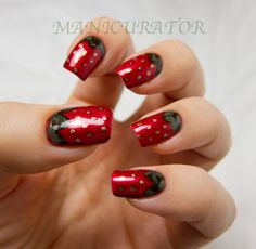 Strawberry nail art with Zoya - Lazy Days of Summer Challenge @Zoya Nail Polish