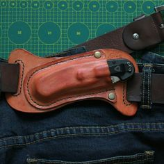 Leather Holster, Leather Pouch, Leather Tooling, Custom Leather Belts, Leather Art, Kydex, Knife Holster, Holsters, Leather Knife Sheath Pattern