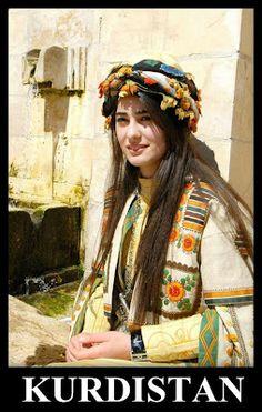 Beautiful Yazidi Girl. I love her Clothes. They symbolize the Yazidi Nature Worship.❤
