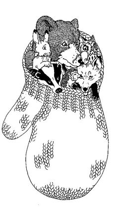 The Mitten animals coloring page