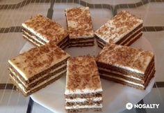 Vaníliakrémes szelet | NOSALTY Hungarian Desserts, Tiramisu, Tapas, Dessert Recipes, Food And Drink, Cookies, Ethnic Recipes, Advent, Kuchen