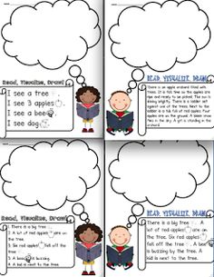 Sarah's First Grade Snippets: Read, Visualize, Draw: Another Fun literacy center- freebie