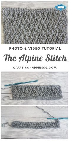 The Alpine Stitch Pattern is an easy crochet pattern that you can use to crochet baby blankets, afghans, shawls etc. Find the photo & video tutorial for beginners with step by step instructions on Crafting Happiness. #crochetblankets #crochetafghans #crochetstitches #crochetpatterns #freecrochetpatterns #crochetforbaby #crochetprojects #crochetbaby #babyblankets #stitchesforblankets Crochet Stitches For Beginners, Basic Crochet Stitches, Crochet Basics, Easy Crochet Patterns, Stitch Patterns, Baby Blanket Crochet, Crochet Baby, Crochet Blankets, Fpdc Crochet Stitch