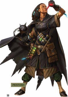 Pentosh, human alchemist 7. From Pathfinder: The Dragon's Demand / Paizo