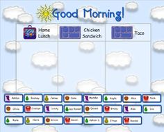 Smart Board Morning Calendar for Primary grades. Includes lunch count, morning song, calendar, seasons, number with base-10, money, weather and timer. SO cute!