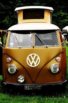 A split screen VW Camper Van