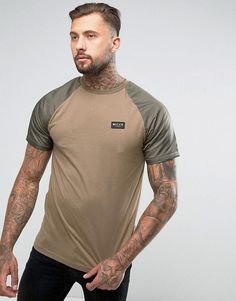 Nicce London T-Shirt With Nylon Sleeves