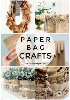 Paper Bag Crafts - 20 Favorite Ideas
