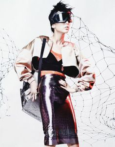 Astero Ski Goggles by Parasite Eyewear featured in Taiwan photo-shoot for Elle magazine.