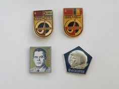 Soviet space pin. Set of 4 pins. Vintage pins. by VintageUSSRshop