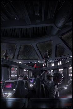 Mark Molnar - Sketchblog of Concept Art and Illustration Works: Star Wars - Star Destroyer Bridge
