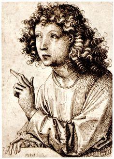 Schongauer, Martin: Der Engel Gabriel (Drawing)