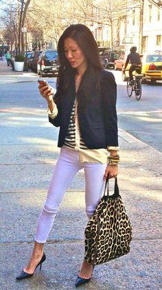 Love the leopard bag!