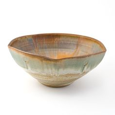 David Voll Pottery Five-Sided Stoneware Bowl - Moss