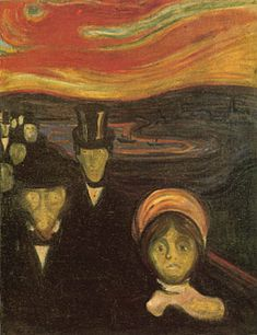 Anxiety ,by Edvard Munch