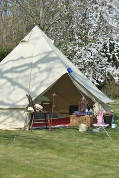 Billycan Camping - England, UK | Bell Tent #glamping on farmland, including farm fresh produce delivered locally.