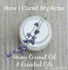 After years of dealing with awful adult blemishes, I finally cleared my acne using coconut oil and essential oils. This super-simple, all-natural solution has changed my life and it can yours too!