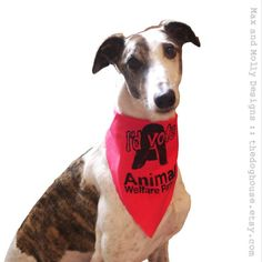 Animal Welfare Party bandana by thedoghouse on Etsy, £6.99