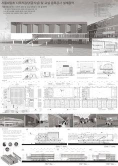 Presentation Board Design, Architecture Presentation Board, Architecture Panel, Architecture Design, Exterior Design, Facade, Floor Plans, Planks, Pageants