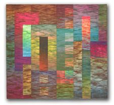 Art quilt titled MOOG by Jan Myers-Newbury