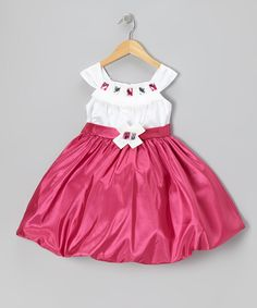 Fuchsia Jewel Bubble Dress - Toddler & Girls | Daily deals for moms, babies and kids