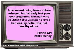 Quote from the novel Funny Girl by Nick Hornby