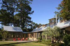 Rustic barn inspired vacation retreat on Spring Island