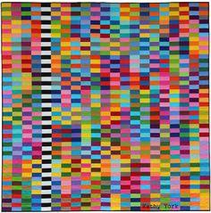 "Art Quilts by Kathy York: Neurodiversity 94"" x 95""    Neurodiversity is simp..."