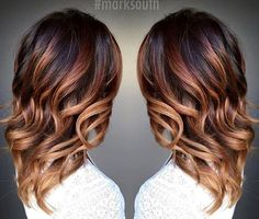 caramel ombre highlights for dark brown hair