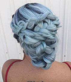 Pretty pastel, smoky grey-blue hair ~ See this Instagram photo by @sweetlypinnedhair •