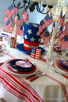 An Accomplished Woman: Fourth of July Table