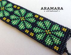 Abalorios de joyería mexicana pulsera Huichol Huichol por Aramara