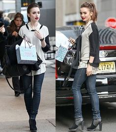 Lilly Collins wearing Rachel Zoe Collection Geri II Sleeveless Shirt | Tops | Augusta Twenty #rachelzoecollection