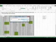 Make a Baseball Schedule Easier to Read in Excel with Conditional Formatting [Video] | Steve Chase Docs