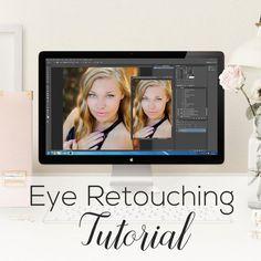 Photoshop Tutorial  Eye Retouching by GlimmersOfLight on Etsy - Eye editing - Editing Tutorial