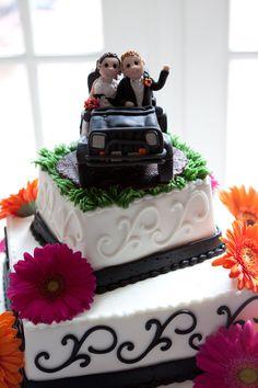 Jeep Wedding Cake Topper