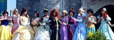 Snow White, Aroura, Belle, Pocahontas, Tiana, Merida, Rapunzel, Mulan, Cinderella, Jasmine, and Ariel